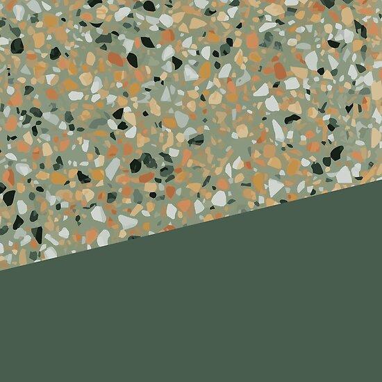 Green Terrazzo Texture