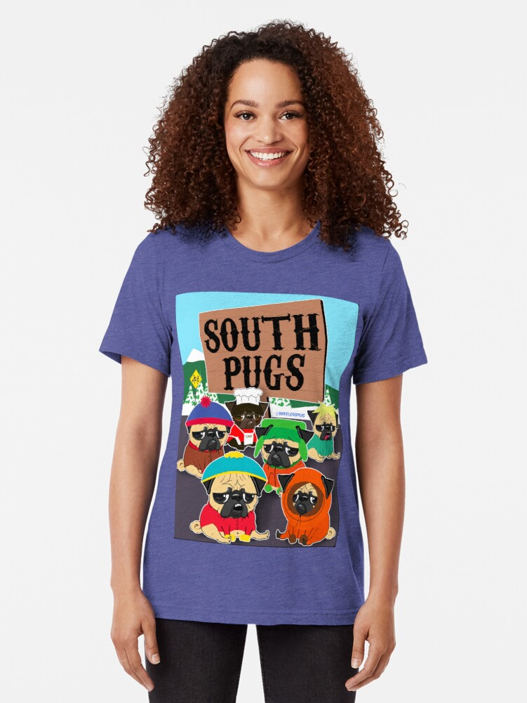 Alternative Ansicht von SÜD-PUGS Vintage T-Shirt
