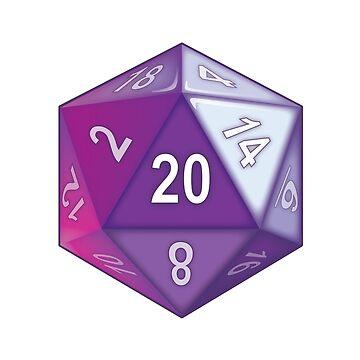 Purple Translucent D20 by anniespjs