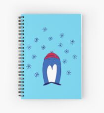 Blue Penguin in the Snow Spiral Notebook
