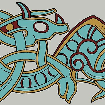 Horned Viking Serpent by amandamakepeace