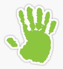 alien hand Sticker
