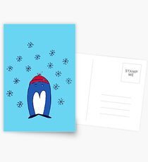 Blue Penguin in the Snow Postcards