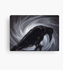 Dream the crow black dream. Canvas Print