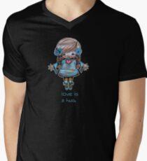 Love is a Hug Tshirt Mens V-Neck T-Shirt