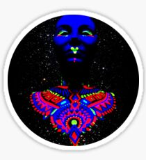 Psychedelic Blue Head Sticker
