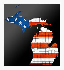 The United State of Michigan Photographic Print