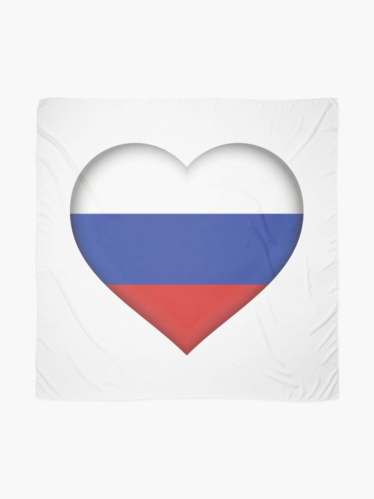 Alternate view of Russian Flag Scarf