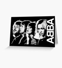 abba pop music group Greeting Card