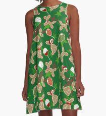 Balloon Animal Holiday Cookies A-Line Dress
