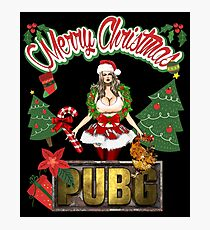 PUBG Playerunknowns Battlegrounds Merry Christmas Photographic Print