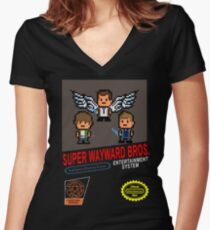 Super Wayward Bros. Women's Fitted V-Neck T-Shirt