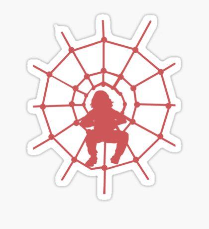 Web silhouette Sticker