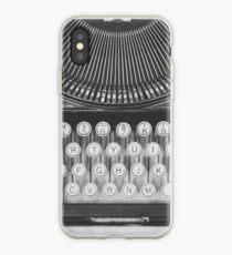 Vinilo o funda para iPhone Estudio de máquina de escribir vintage