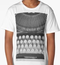 Vintage Typewriter Study Long T-Shirt