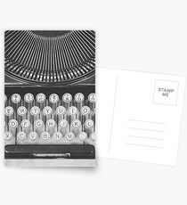 Vintage Typewriter Study Postcards