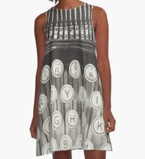 Vintage Typewriter Study A-Line Dress
