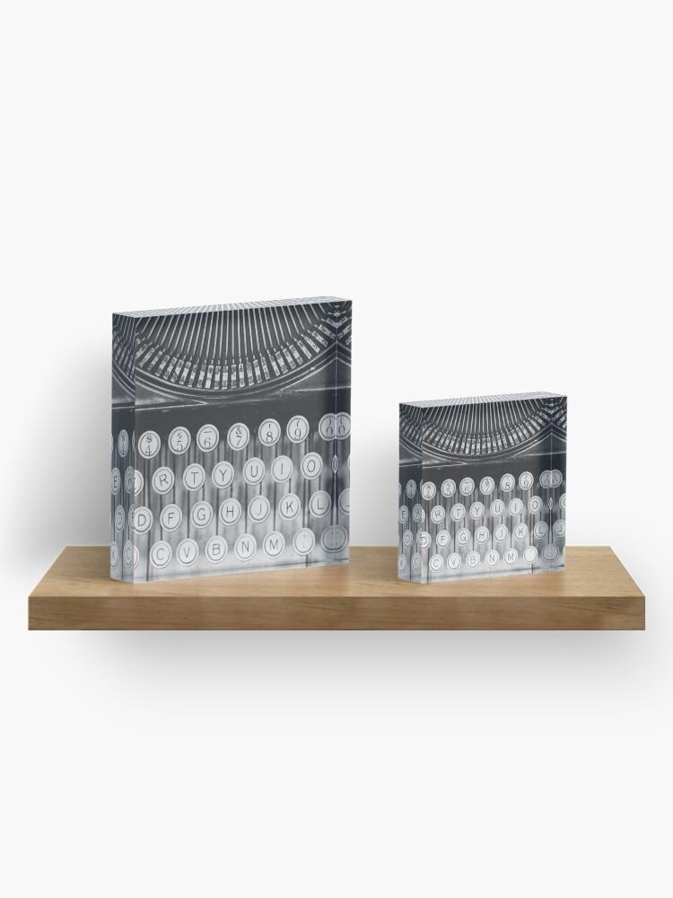 Alternative Ansicht von Vintage Schreibmaschinenstudie Acrylblock