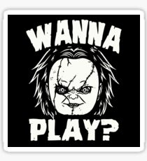 WANNA PLAY? Sticker