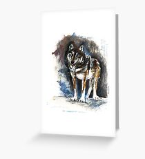 Timber wolf (c) 2017 Greeting Card