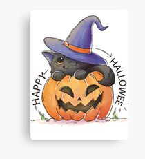Lovely hand-painted pumpkin Canvas Print