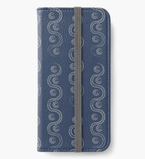Blue and White Waves iPhone Wallet/Case/Skin