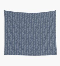 Blue and White Waves Wall Tapestry
