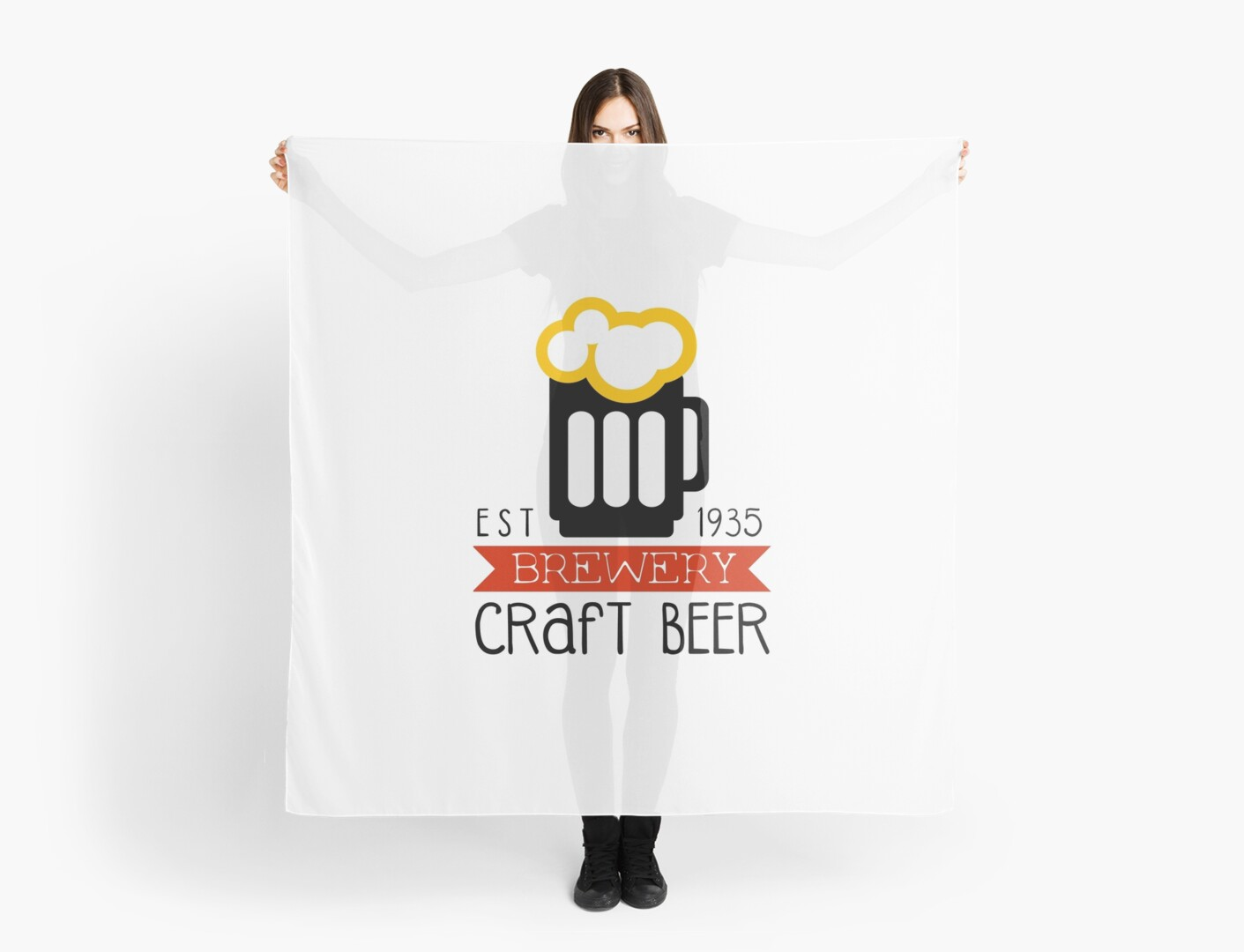 craft brewery logo design template scarves by topvectors redbubble