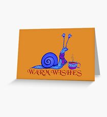 Blue Snail's Warm Wishes Greeting Card