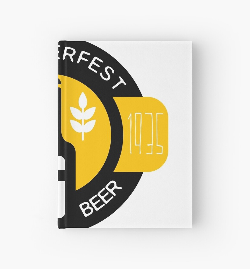craft beer logo design template with bottle hardcover journals by