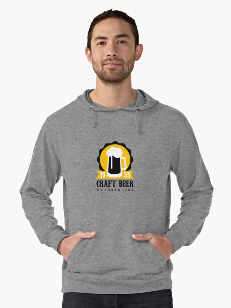 craft beer logo design template with pint lightweight hoodie by