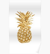Golden pinapple Poster