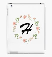 Flower H Monogram iPad Case/Skin