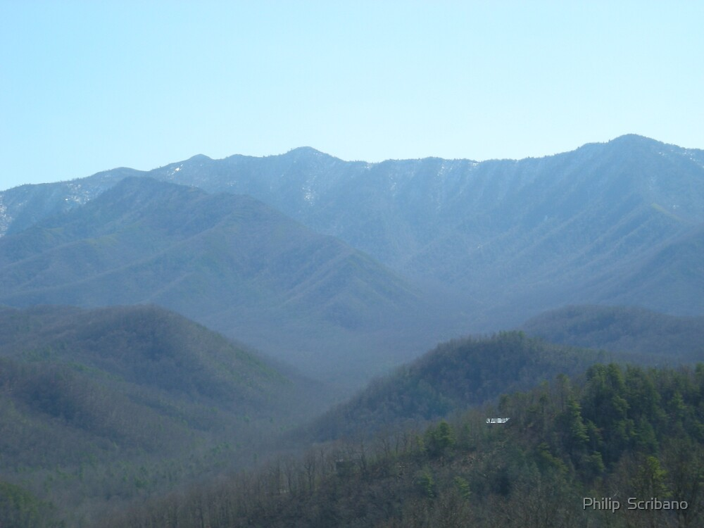 The Smokey Mountains by Philip  Scribano