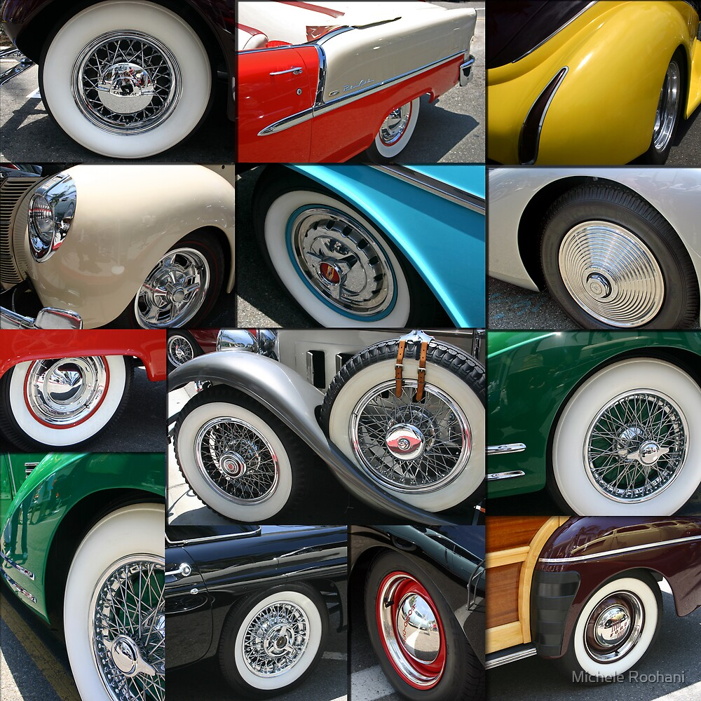 Classic Car tires by Michele Roohani