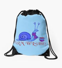Blue Snail's Warm Wishes Drawstring Bag