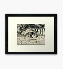 Lincoln's Eye Framed Print