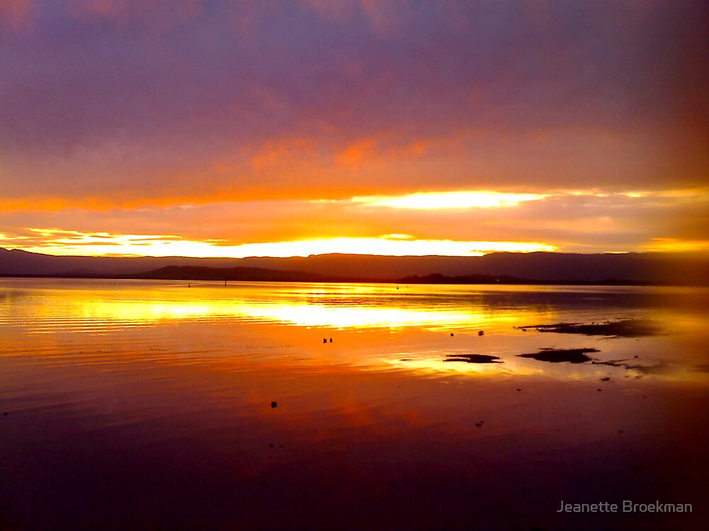 Sunset over Water (1) by Jeanette Broekman