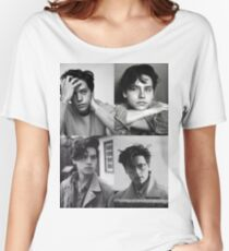 Camiseta ancha Cole Sprouse Collage B & W