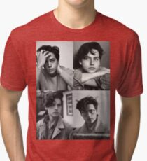 Cole Sprouse Collage B&W Tri-blend T-Shirt