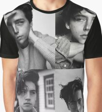 Cole Sprouse Collage B&W Graphic T-Shirt