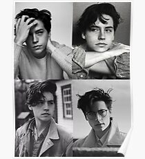 Cole Sprouse Collage B & W Poster