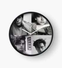 Cole Sprouse Collage B & W Uhr