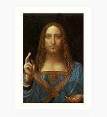 Da Vinci Salvator Mundi Art Print