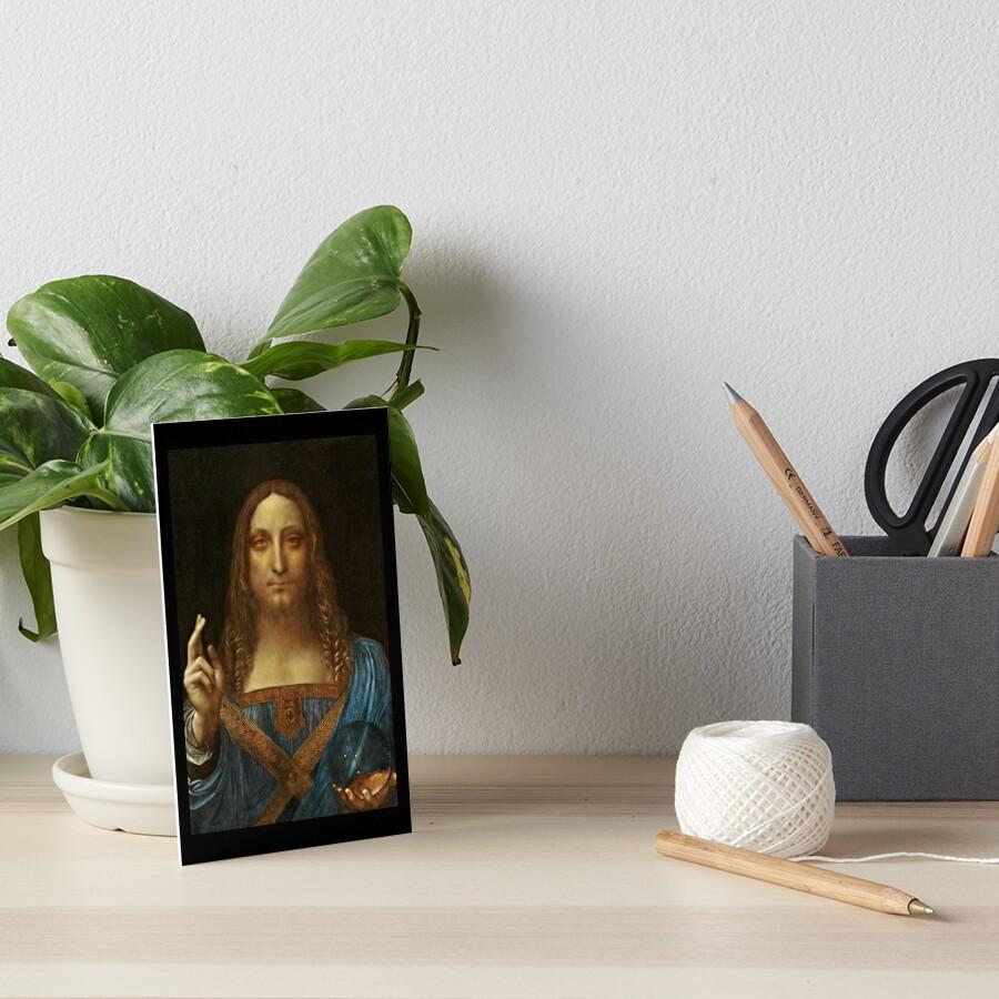 Da Vinci Salvator Mundi Galeriedruck