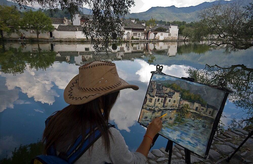 Artists in Hongcun village No.3 by Akif  Kaynak