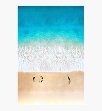 Australian Beach Cricket - Aerial Photographic Print