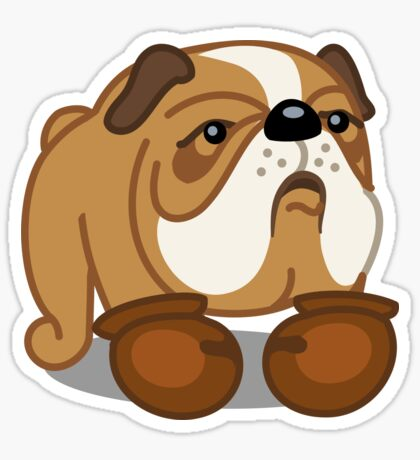 Bulldog Boxer tshirt - Dog Gifts for Boxer and Bulldog Pet Lovers Sticker