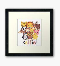 Animal Selfie Framed Print