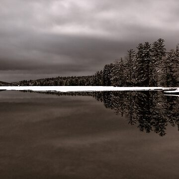 Reflection - Late Winter Morning on Highland Lake by rural-guy